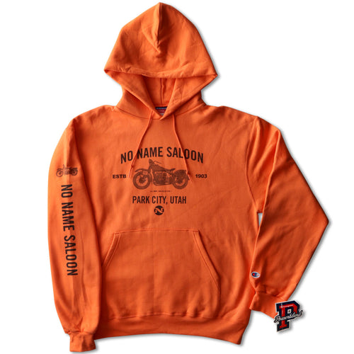 No Name Saloon Motorcycle Hoodie - Orange