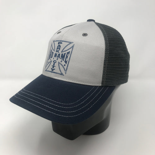 No Name Saloon Iron Cross - Chrome/Navy/Charcoal