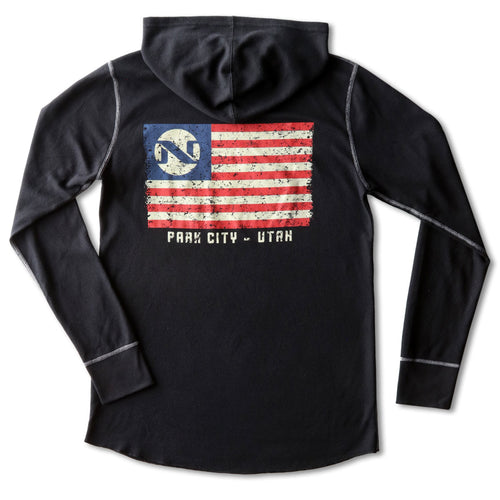 No Name Saloon 'Merican Flag Thermal - Black