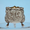 Scene on English Antique Sterling Silver Master Salt, Edward Farrell, London, 1818/19