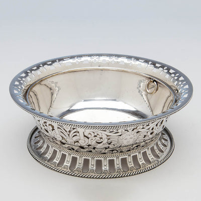 Interior of Gorham Antique Sterling Silver Centerpiece Bowl with Liner, Providence, RI, 1913