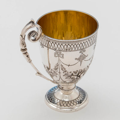 Interior of Edward and James Barnard Antique Sterling Cup, London, 1865/66