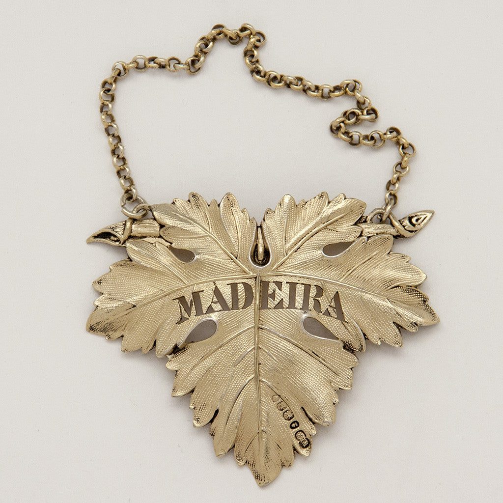 William Ker Reid George IV Antique Sterling Silver 'Madeira' Decanter Label, London, 1828/29