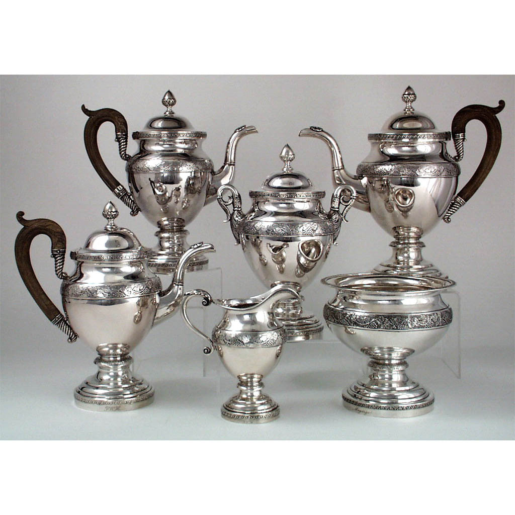 Thomas Fletcher & Sidney Gardiner - The Magarge Family 6 Piece Tea and Coffee Service, Philadelphia, c. 1815-20