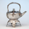 Dominick & Haff (attributed) Antique Sterling & Other Metals Kettle on Stand, New York City, c. 1880