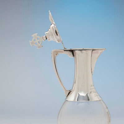 Open image of Ballou MFG Co Sterling Silver Ecclesiastical Cruet, Attleboro, MA, c. 1900