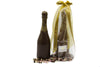 Chocolate Champagne Bottle Filled with Crispy Pearls
