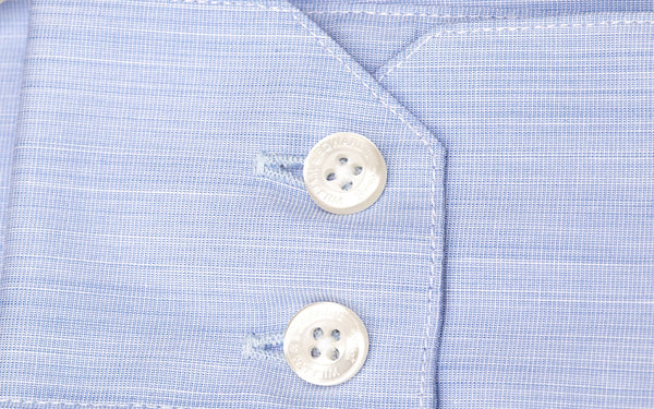 Blue End- on-End Slim Fit  Luxury Dress Shirt