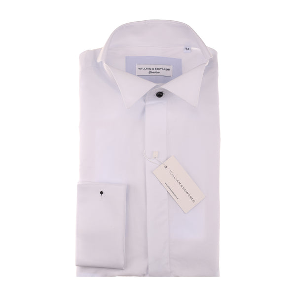 White Luxury  Wing Collar Poplin Cocktail and  Wedding Shirt