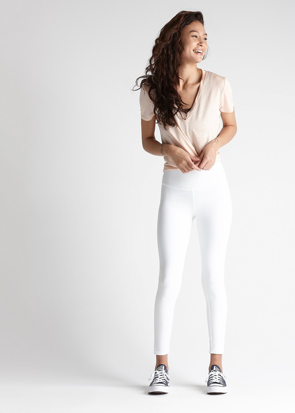 Denim Shaping Legging in white