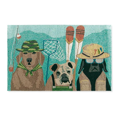 Fishing Dogs Mat