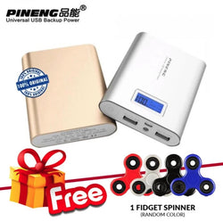 Pineng PN-988 10000mAh Power Bank + FREE Fidget Spinner