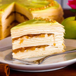 Apple Mille Crepe Cake