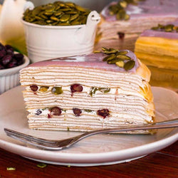 Yam Mille Crepe Cake