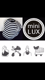 Grey with black love hearts Mini LUX Baby Cover