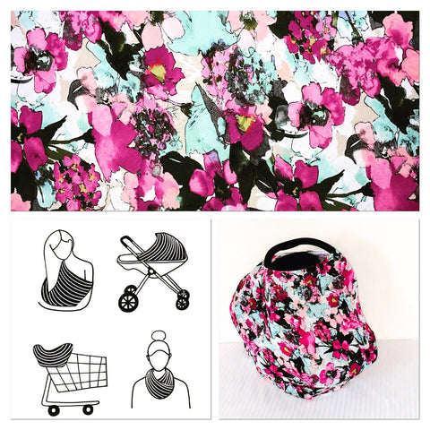 Purple Floral Mini Lux Baby Cover