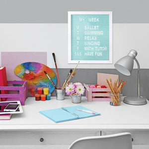 IS Gifts Stationery Aqua Coloured Letter Boards tween and teen