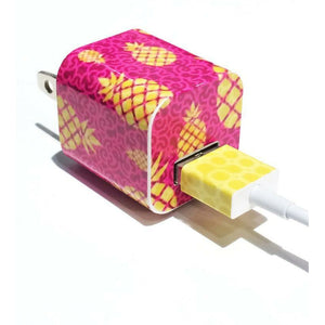 Tech Tattz Accessories Pineapple Paradise Skins for iPhone Chargers 0720252999340 tween and teen