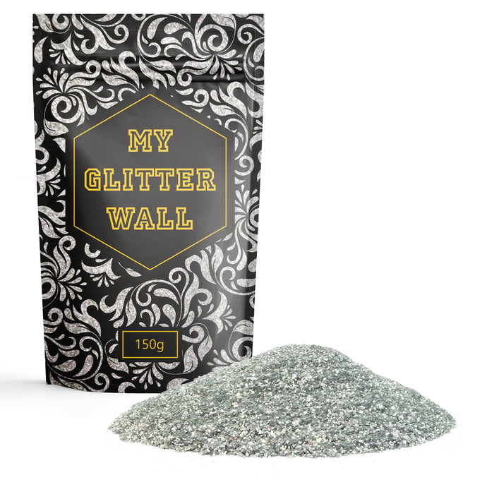 Silver Glitter Paint Flakes glitter paint for walls