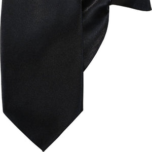 Plain Black Luxury Clip On Tie (JH-P001)