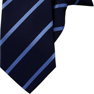 Navy with Blue Stripe Clip On Tie (JH-1017)