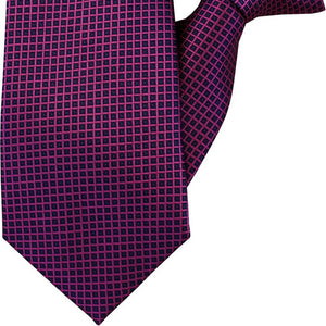 Purple and Navy Clip On Tie (JH-1011)