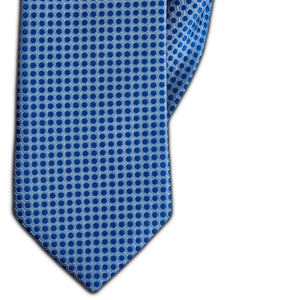 Azure Blue Spot Clip On Tie (JH-1154)