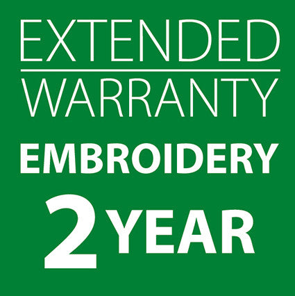 Extended Warranty Embroidery Only Machines 2 Years