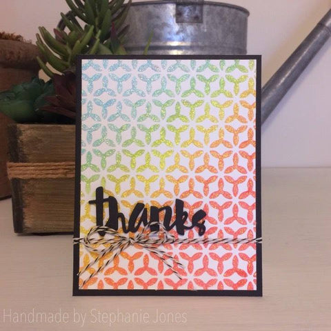 TRIBURST BACKGROUND 6x6 STENCIL - Gina Marie Designs