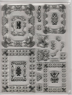 FLEUR DE LIS (matches spellbinder die) - CLEAR STAMPS LARGE PACK