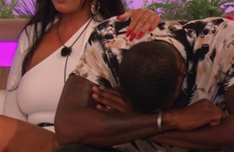 Top feminist moments Love Island 2019-Ovie crying about George- Rani & Co. feminist blog UK