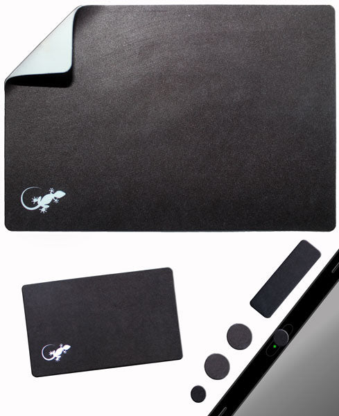 Phone Wallet - Phone Card Holder - Gecko Travel Tech - Adhesive Mouse Pad - Mouse Pad Adhesive Bottom - Sticks to any surface - Portable - Webcam Covers and Screen Cleaner Included