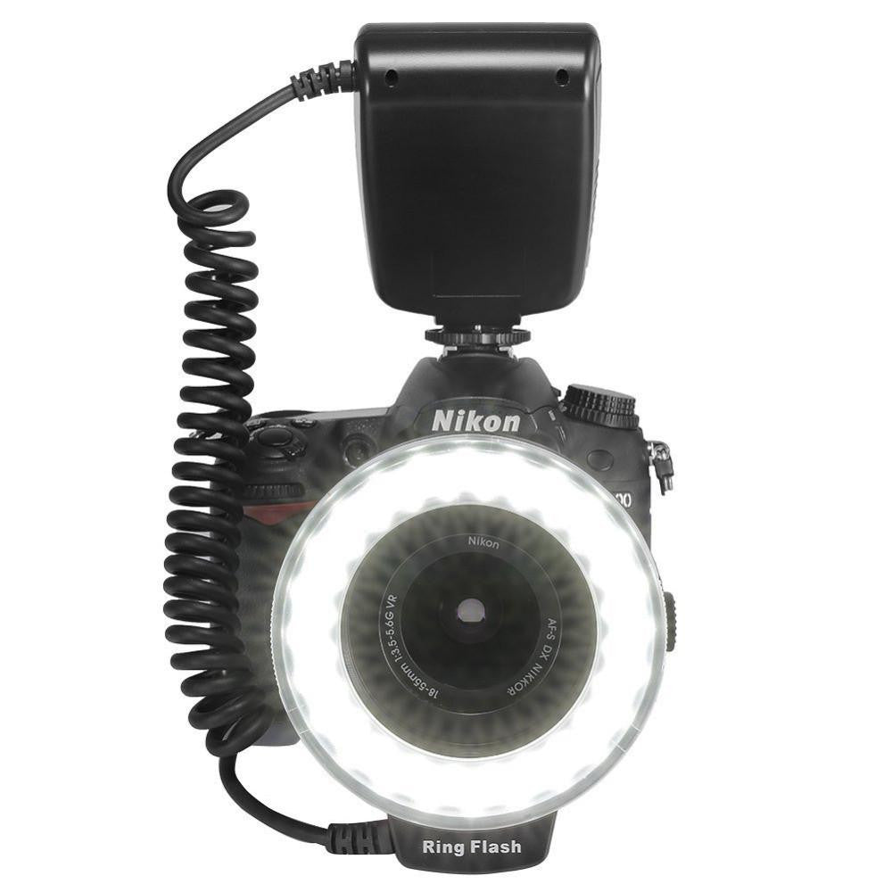 LED RING FLASH BUNDLE WITH 8 ADAPTERS
