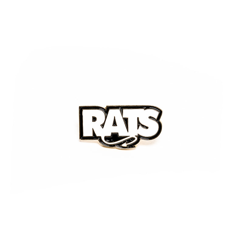 Rats Box Logo Pin White