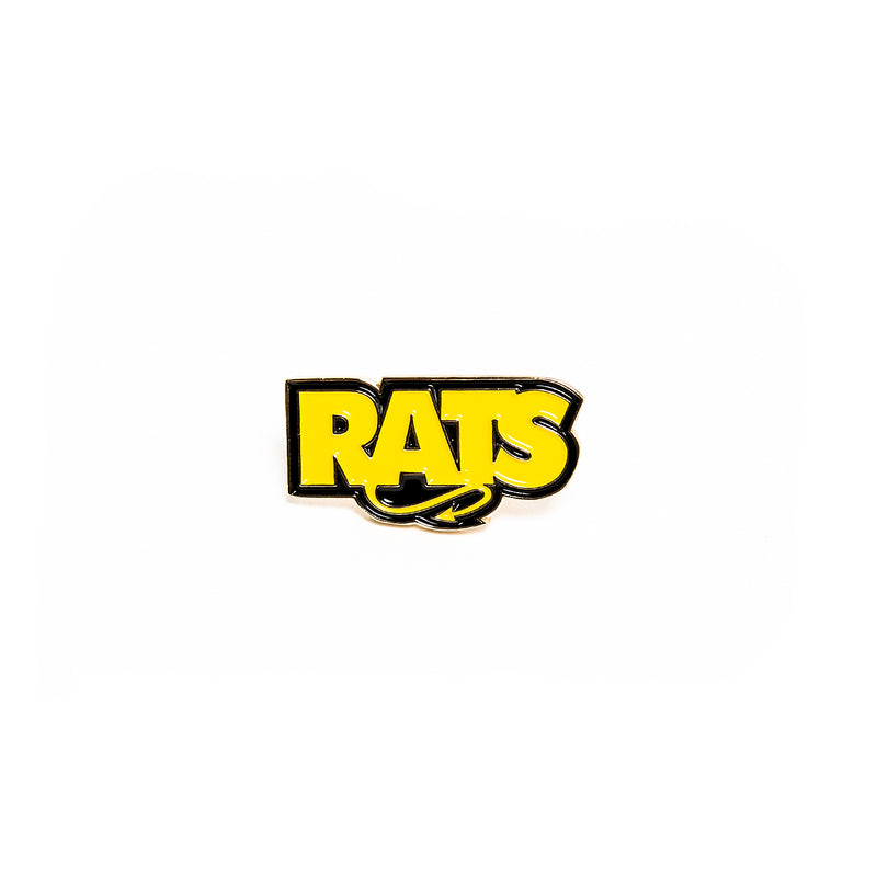 Rats Box Logo Pin Yellow