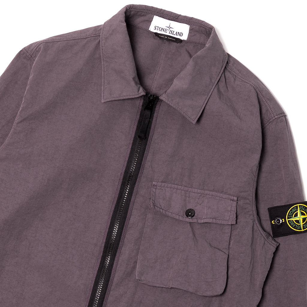 Stone Island Nyco Poplin Shirt Jacket Blue Grey