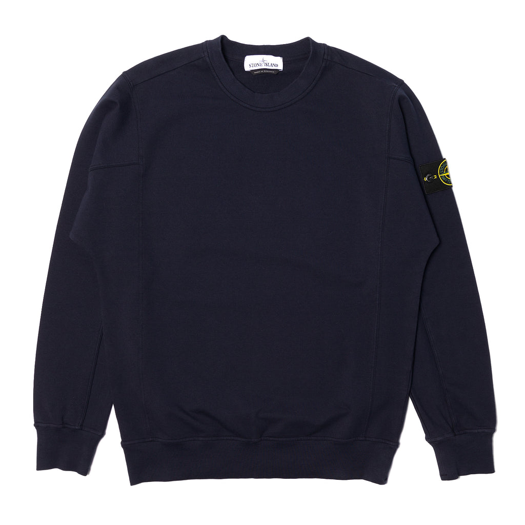 Stone Island Stretch Cotton Crewneck Blue
