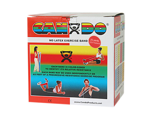 CanDo® No Latex Exercise Band - 25 yard roll - Red - light