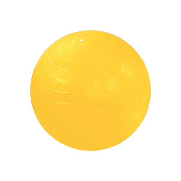 CanDo® Inflatable Exercise Ball - Yellow - 18 inch