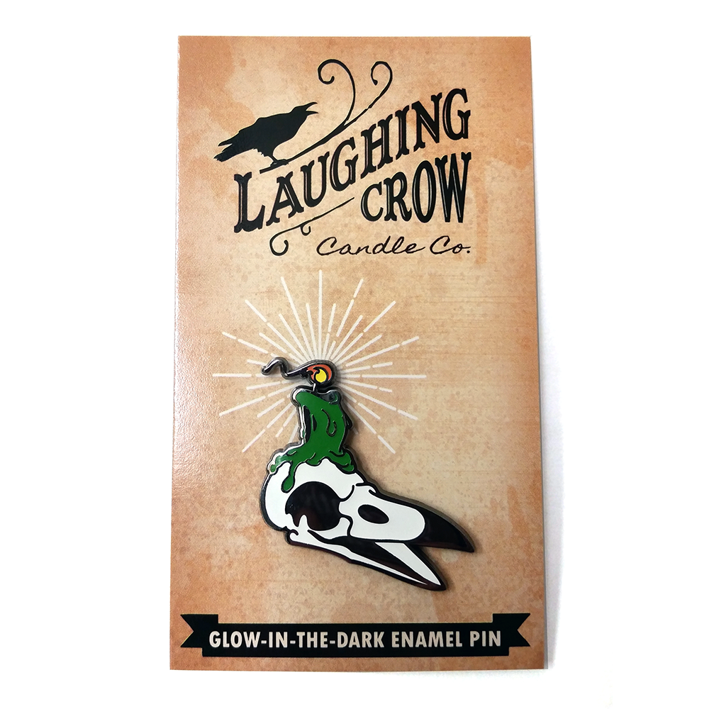 Laughing Crow Candle Co. Enamel Pin (Green Variant) - 50% OFF!