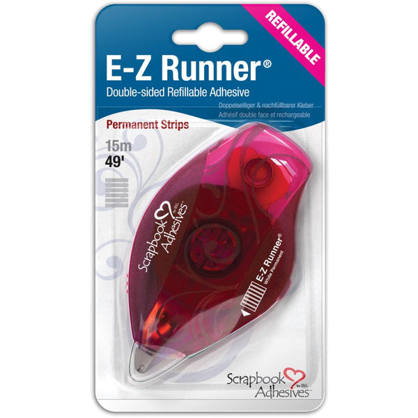 Scrapbook Adhesives - E-Z Runner Refillable Dispenser W/Permanent Adhesive strips