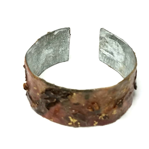 Flower Cuff on Base Metal
