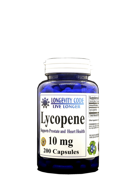 LYCOPENE - 10 mg, 200 caps. - Longevity Code - Live Longer