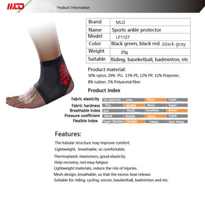 MLD Ultralight Breathable Adjustable Sports Elastic Ankle Support Sports Safety Gym Badminton Basketball ankle brace support