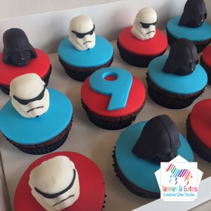 Star Wars Cupcakes - Darth & Stormtroopers (partial helmet)
