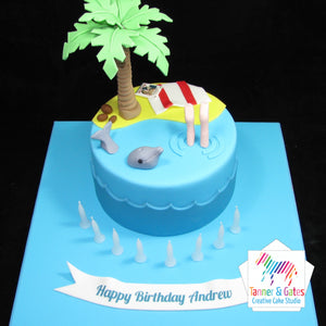 Beach Lover Birthday Cake