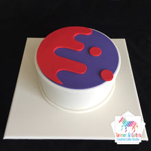 Corporate Cake logo raised / hand-cut
