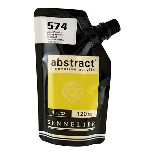 Sennelier Acrylic Color N121121 574 Primary Yellow Abstract 120Ml