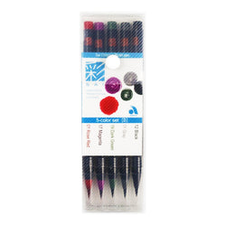 Sai Brush Marker Xca2005Vd 5Colors Black Gray Dark Green Magenta Rose Red