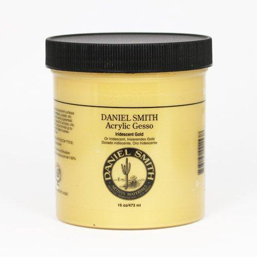 Daniel Smith Acrylic Gesso 284040003 16 Oz Iridescent Gold